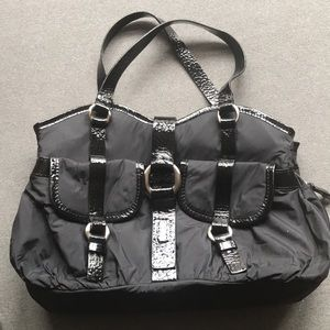 Black nylon Cole Haan Purse